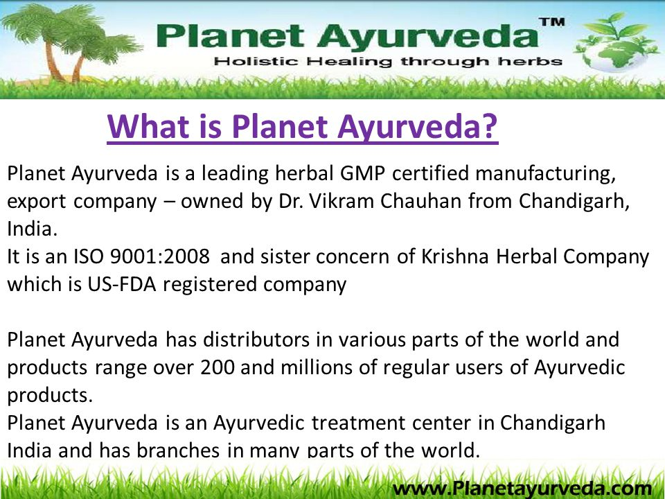 What is Planet Ayurveda