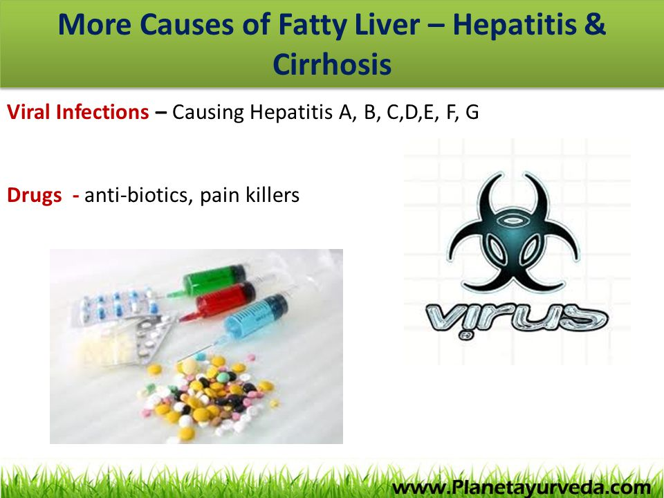 More Causes of Fatty Liver – Hepatitis & Cirrhosis