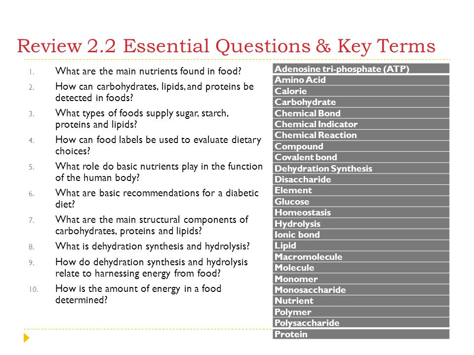 Review 2.2 Essential Questions & Key Terms