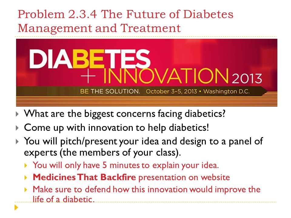 Problem 2.3.4 The Future of Diabetes Management and Treatment