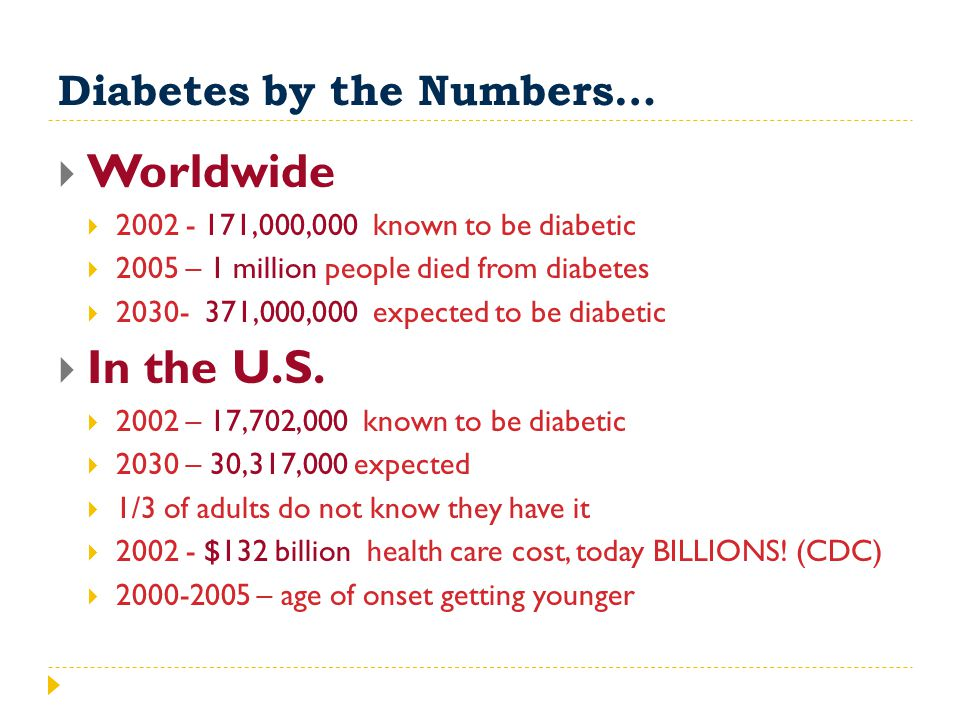 Diabetes by the Numbers…