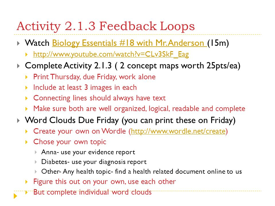 Activity 2.1.3 Feedback Loops