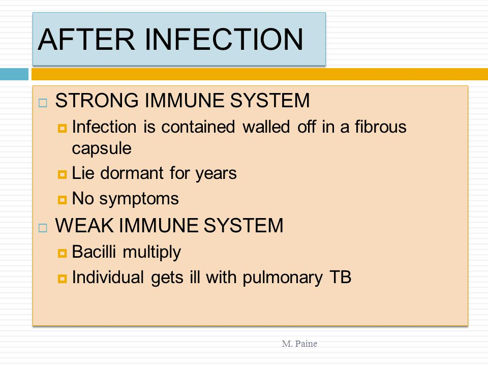 AFTER INFECTION STRONG IMMUNE SYSTEM WEAK IMMUNE SYSTEM