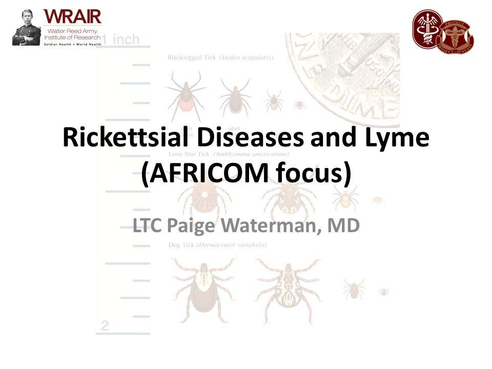 Rickettsial Diseases and Lyme (AFRICOM focus)