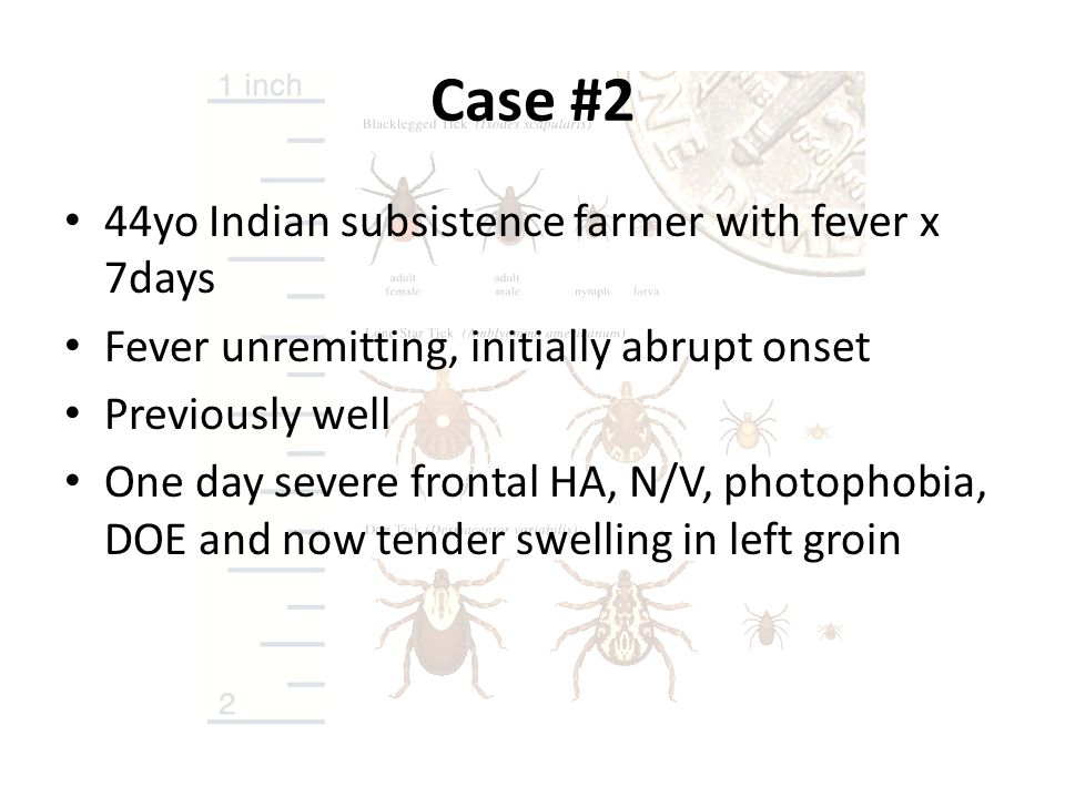 Case #2 44yo Indian subsistence farmer with fever x 7days