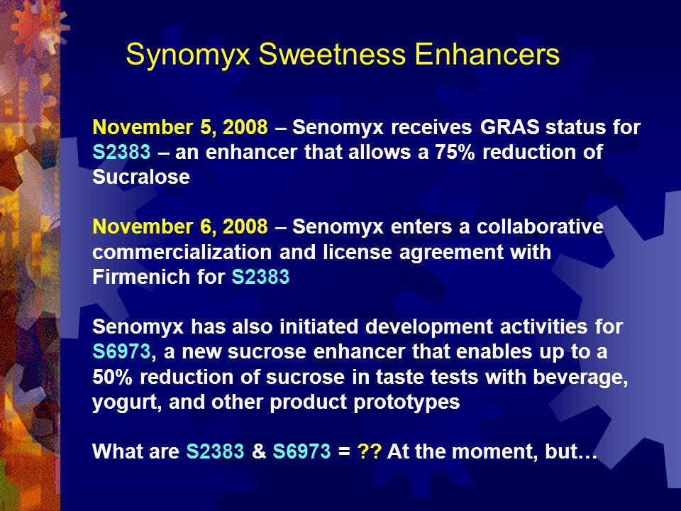 Synomyx Sweetness Enhancers