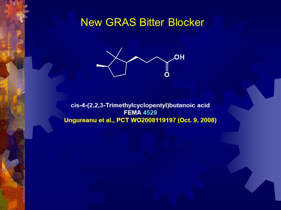 New GRAS Bitter Blocker
