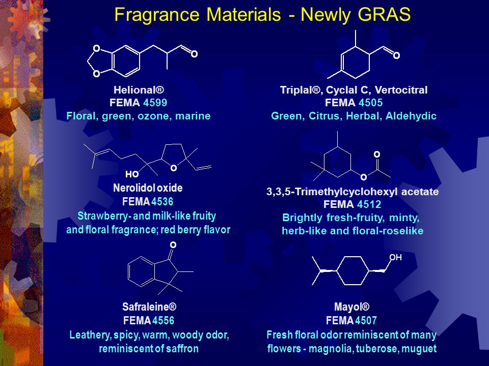 Fragrance Materials - Newly GRAS