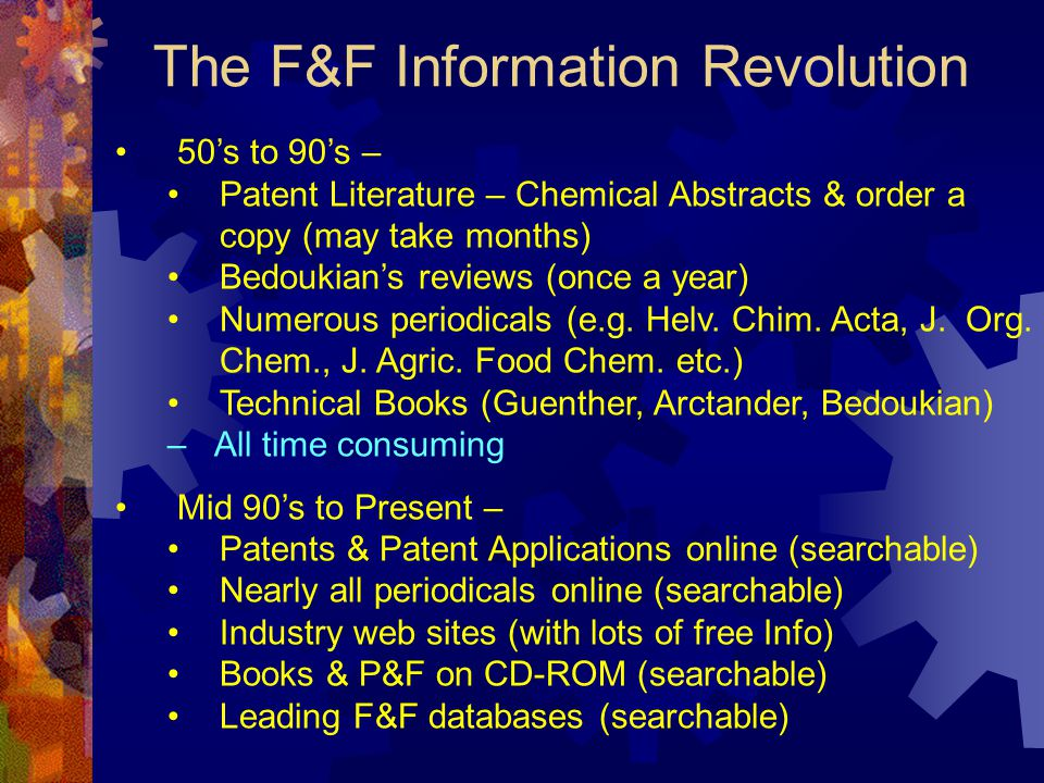 The F&F Information Revolution
