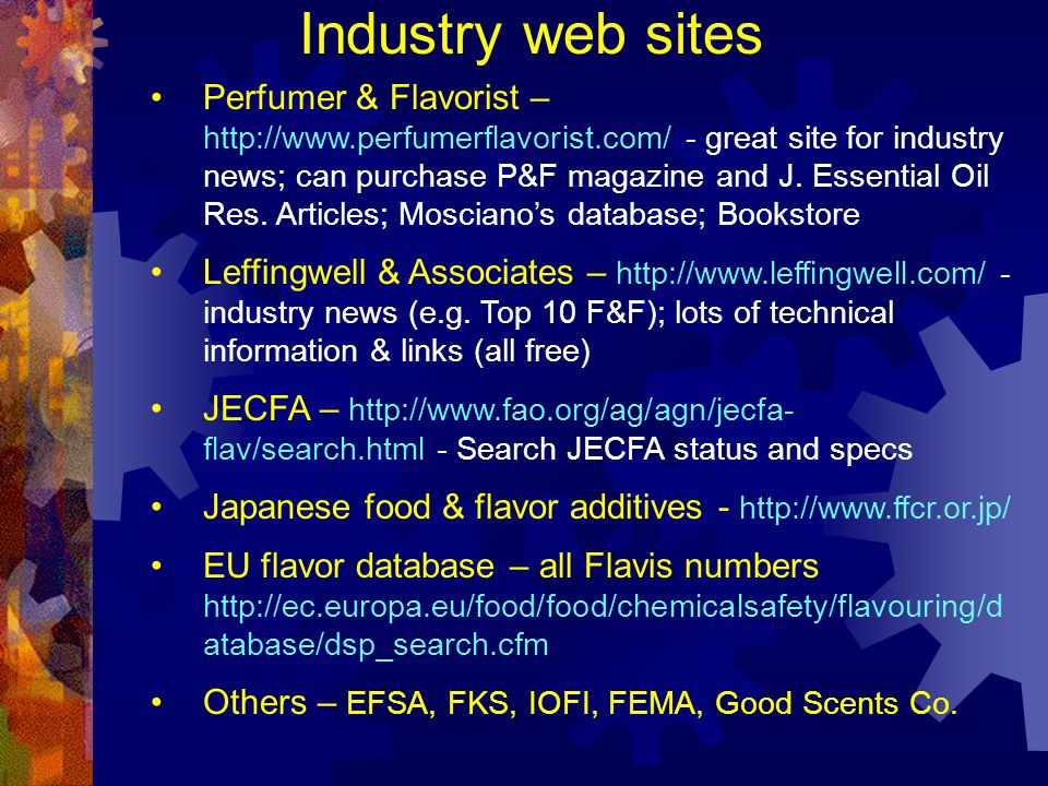 Industry web sites