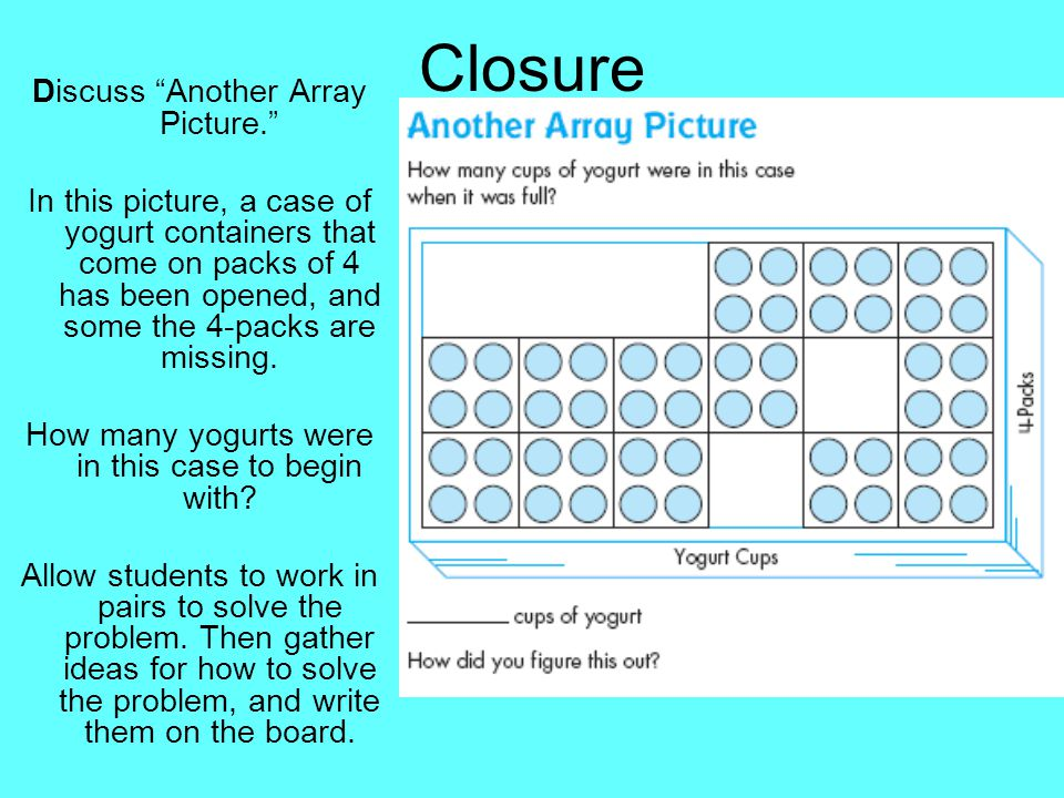 Closure Discuss Another Array Picture.