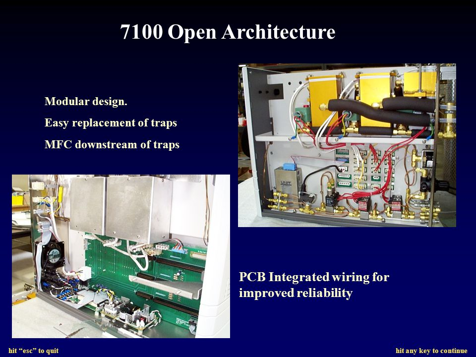 7100 Open Architecture PCB Integrated wiring for improved reliability