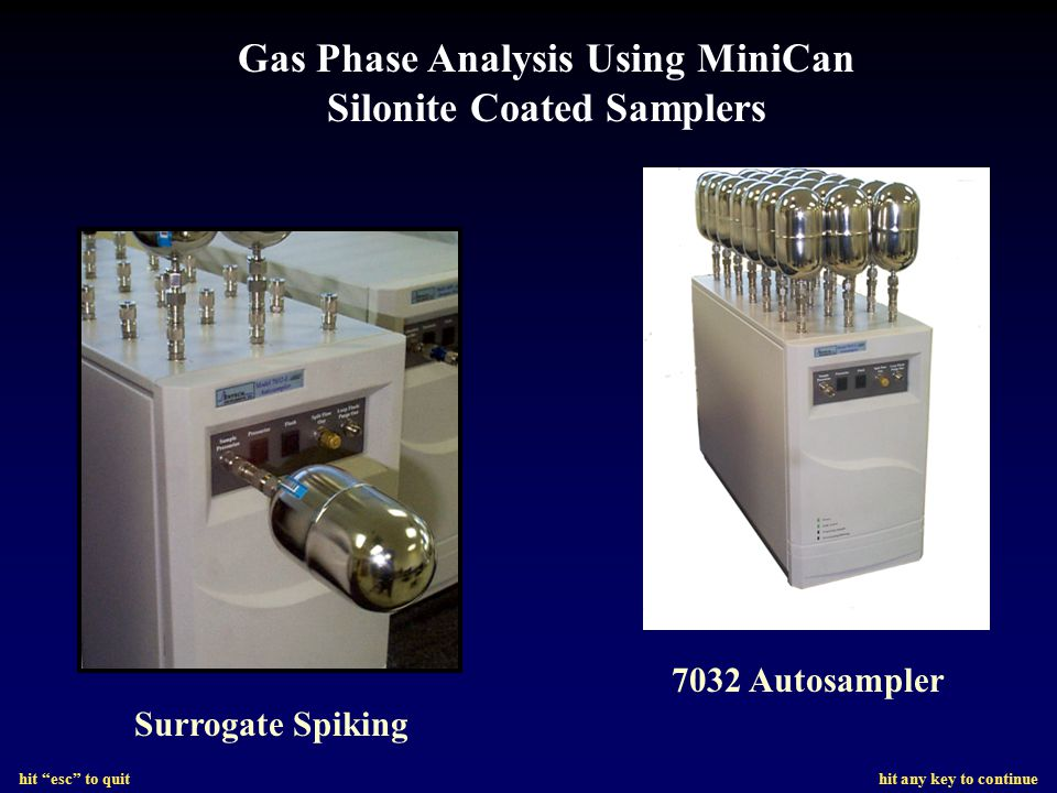 Gas Phase Analysis Using MiniCan Silonite Coated Samplers