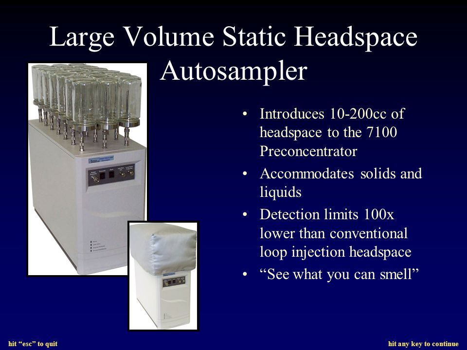 Large Volume Static Headspace Autosampler