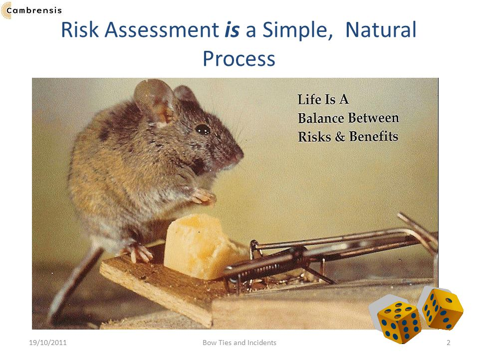 Risk Assessment is a Simple, Natural Process