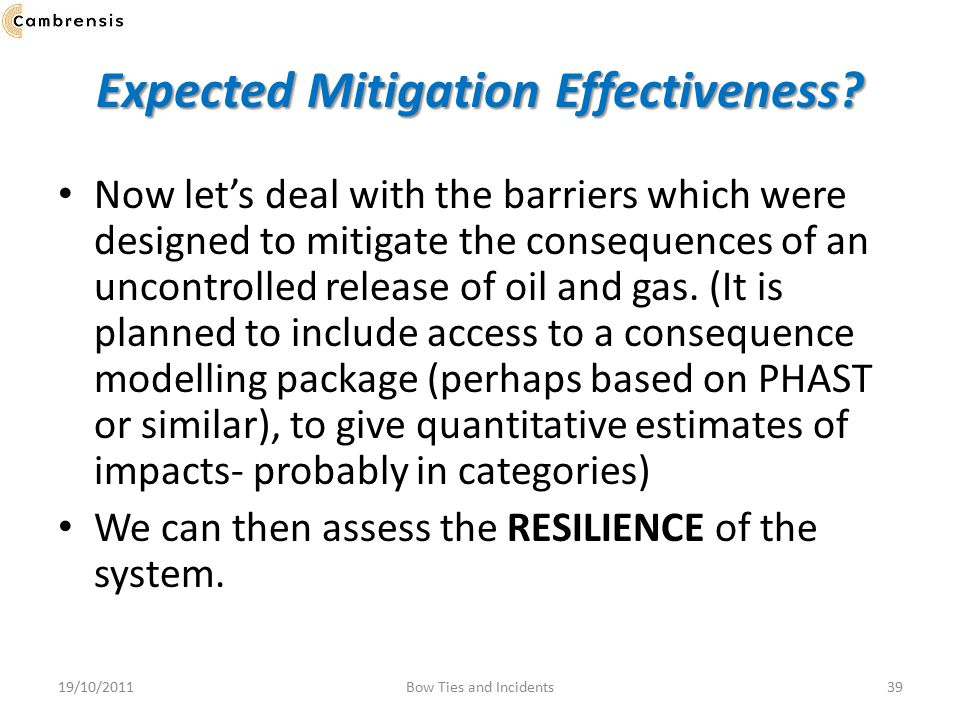 Expected Mitigation Effectiveness