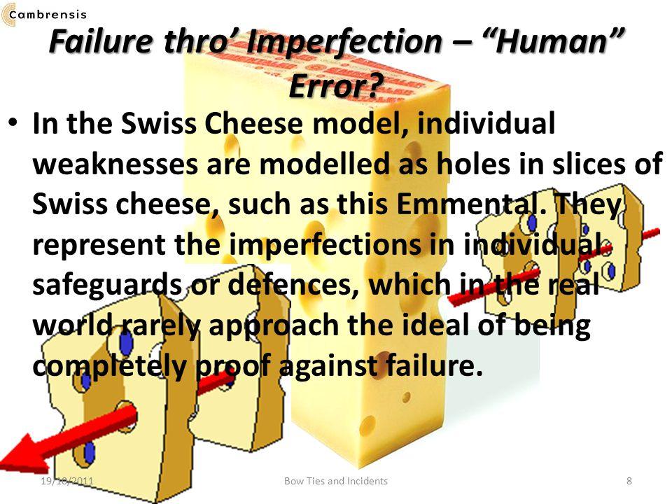 Failure thro' Imperfection – Human Error