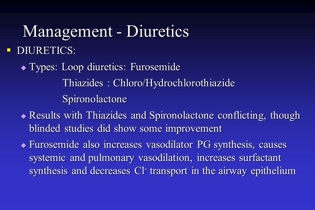 Management - Diuretics