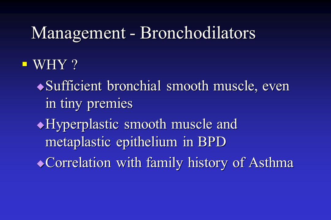 Management - Bronchodilators