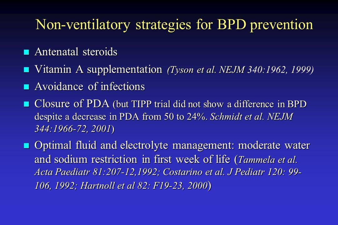 Non-ventilatory strategies for BPD prevention