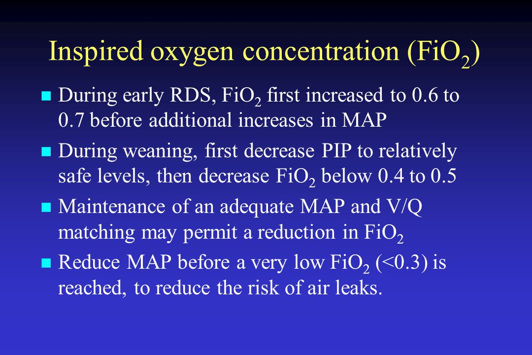 Inspired oxygen concentration (FiO2)