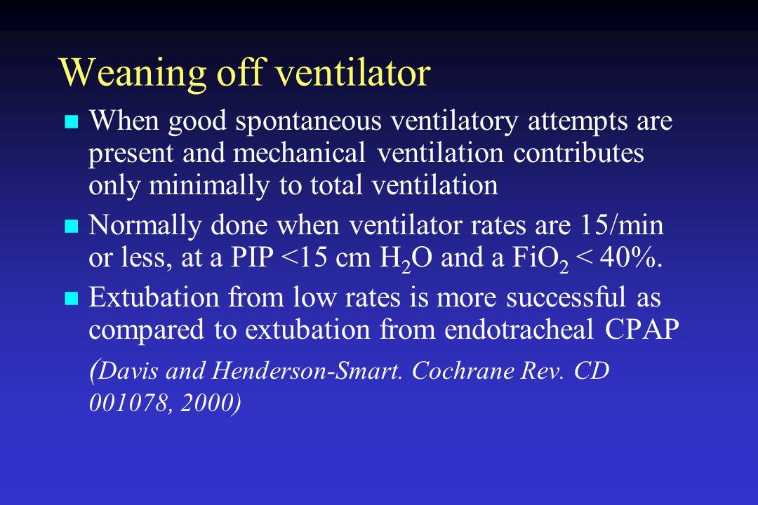 Weaning off ventilator