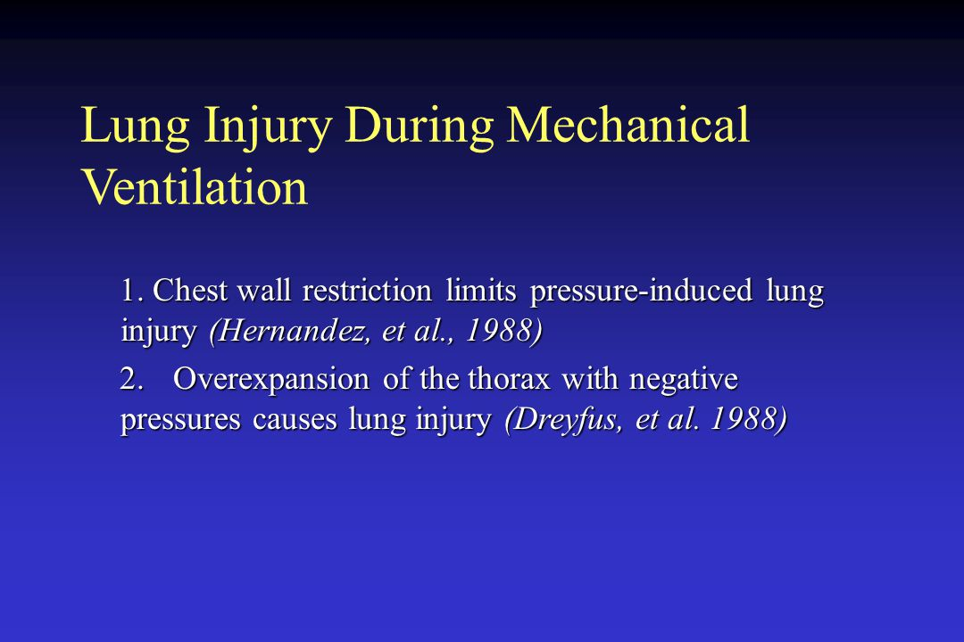 Lung Injury During Mechanical Ventilation