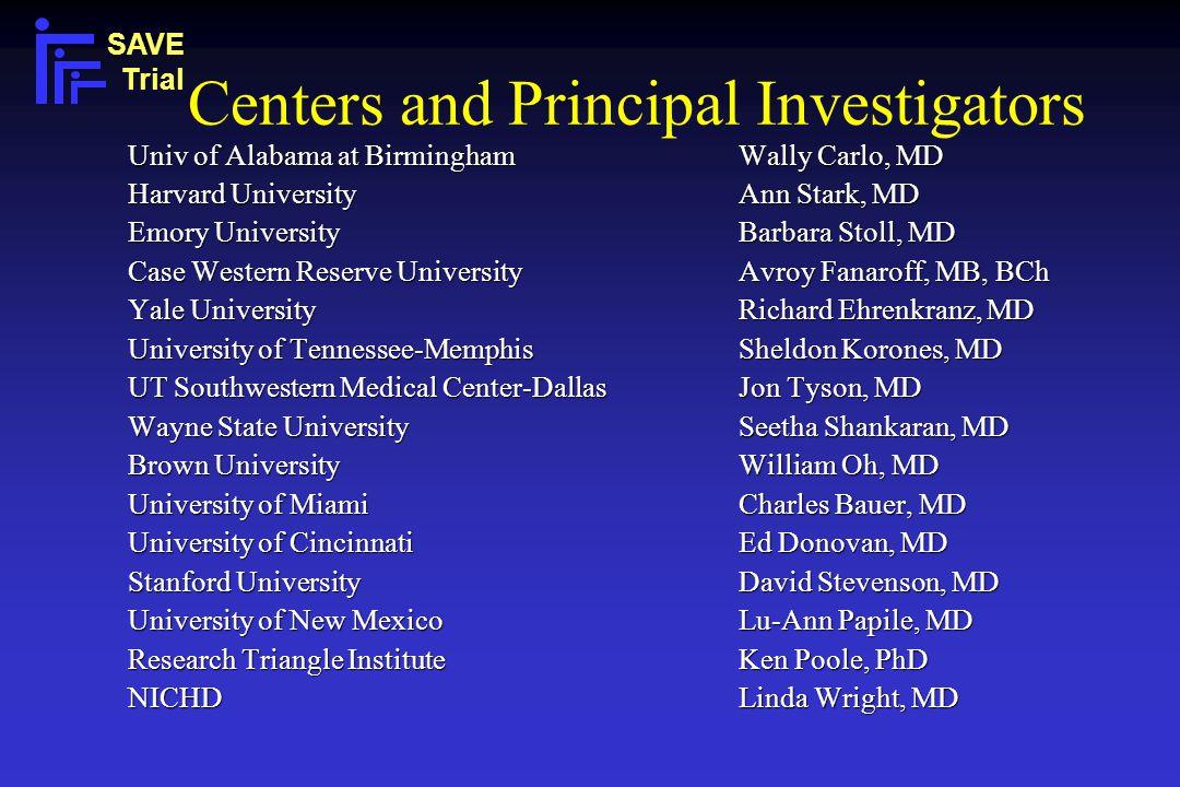 Centers and Principal Investigators