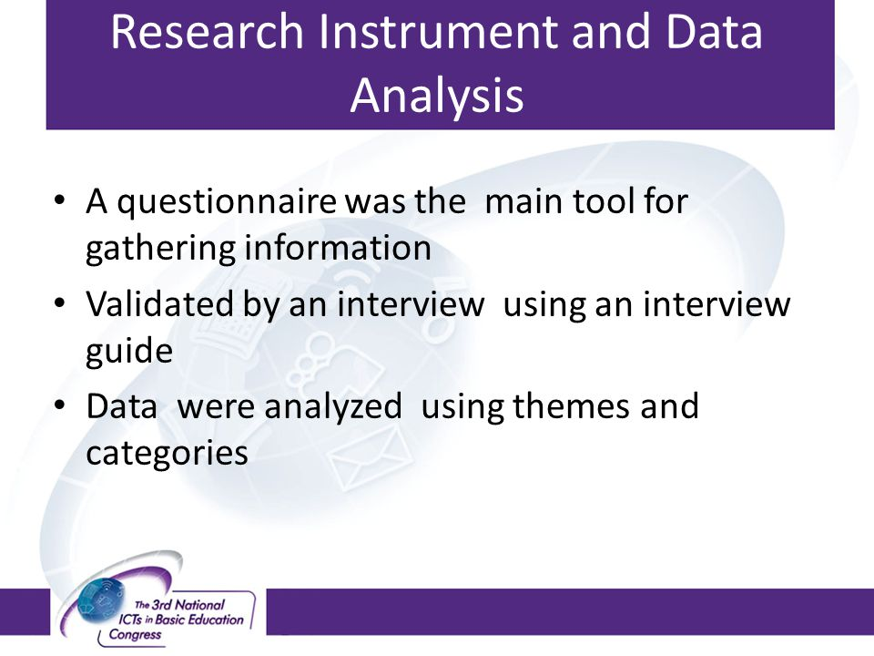 Research Instrument and Data Analysis