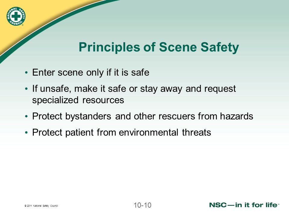 Principles of Scene Safety