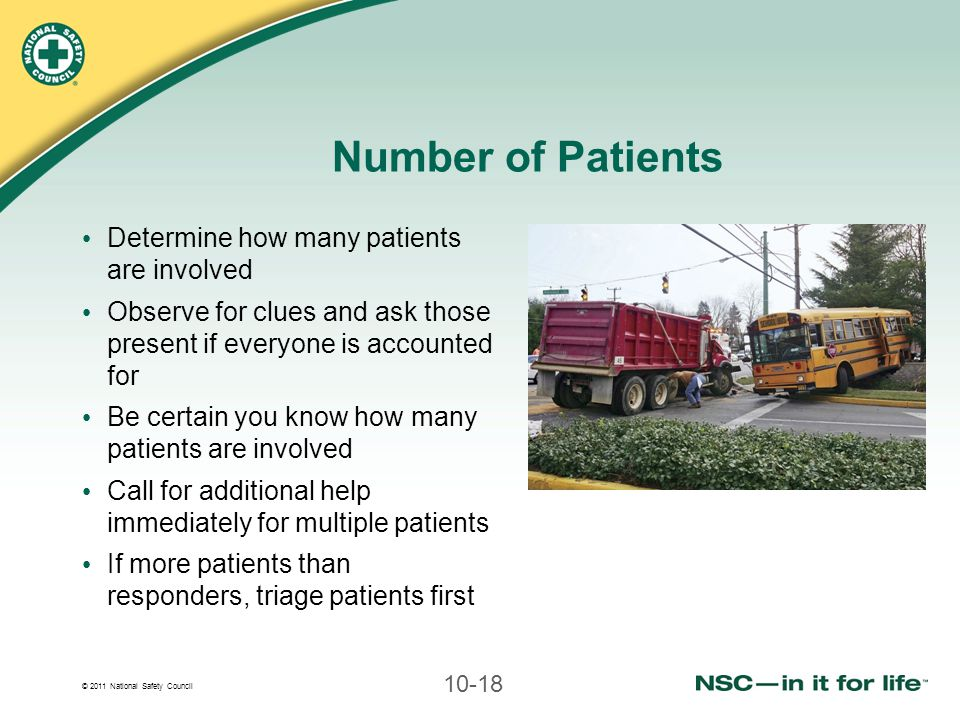 Number of Patients Determine how many patients are involved