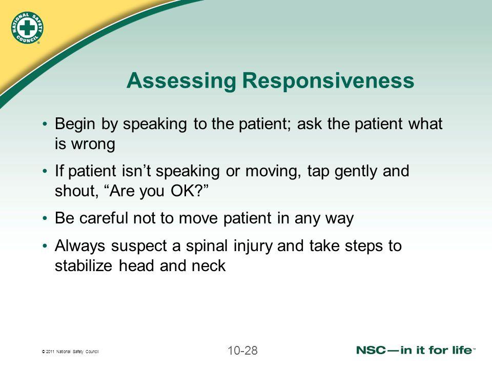 Assessing Responsiveness