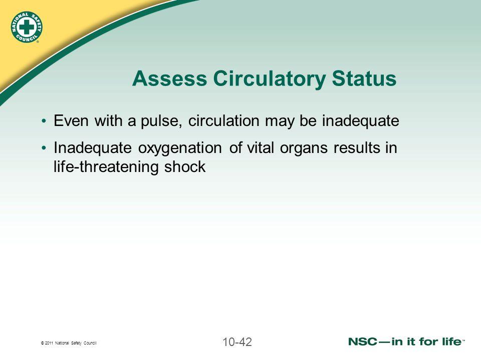 Assess Circulatory Status