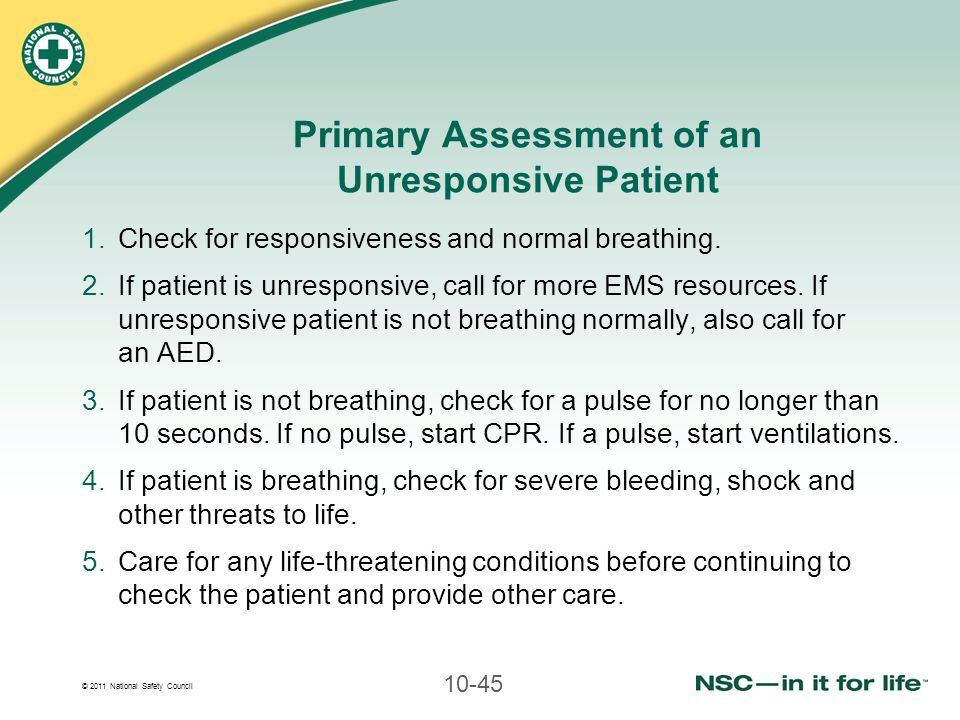 Primary Assessment of an Unresponsive Patient