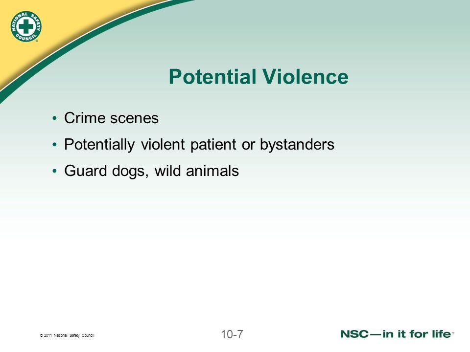 Potential Violence Crime scenes