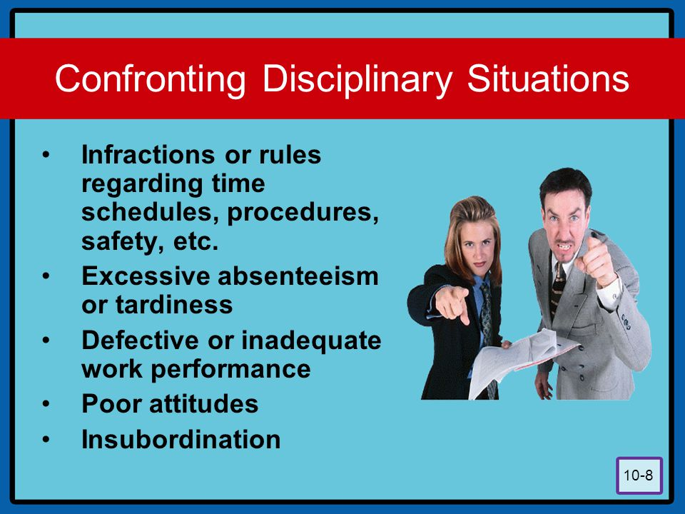 Confronting Disciplinary Situations