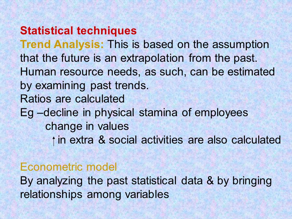 Statistical techniques