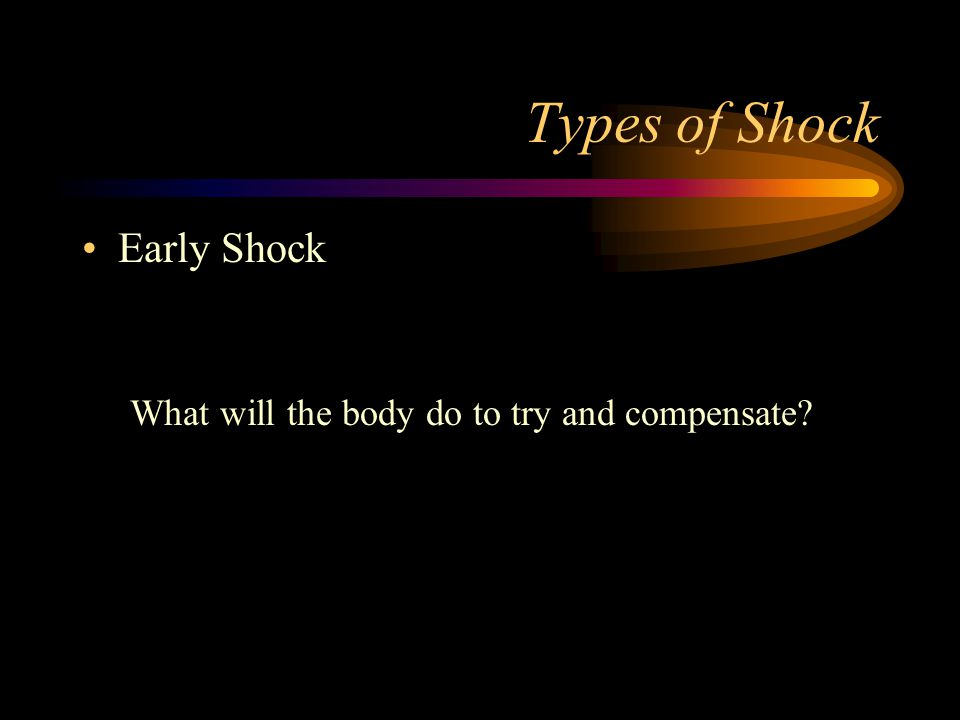 Types of Shock Early Shock
