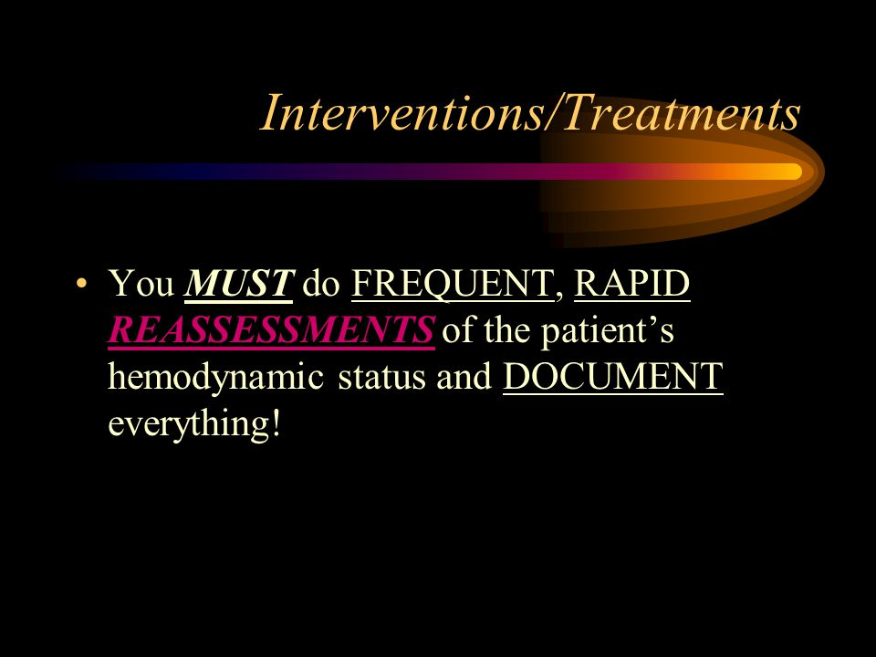 Interventions/Treatments