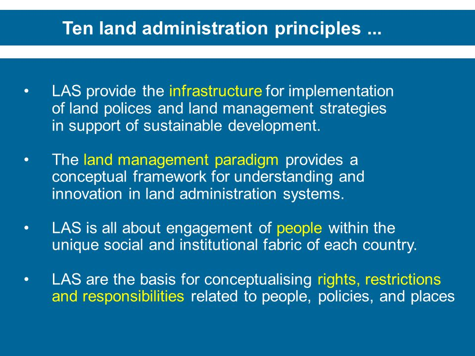 Ten land administration principles ...