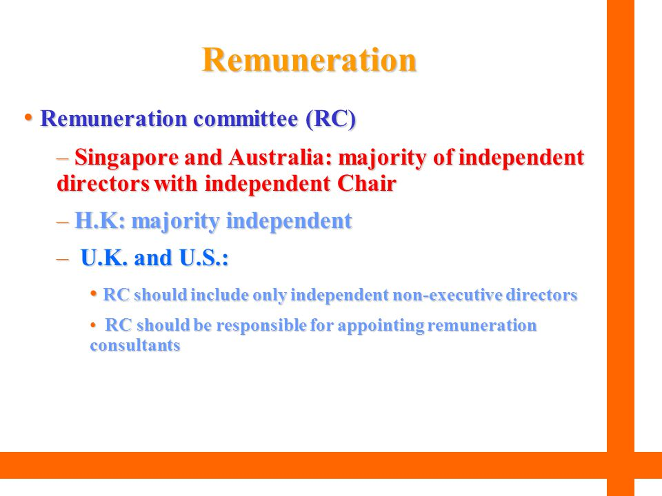 Remuneration Remuneration committee (RC)