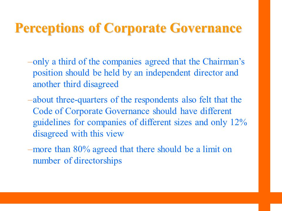 Perceptions of Corporate Governance