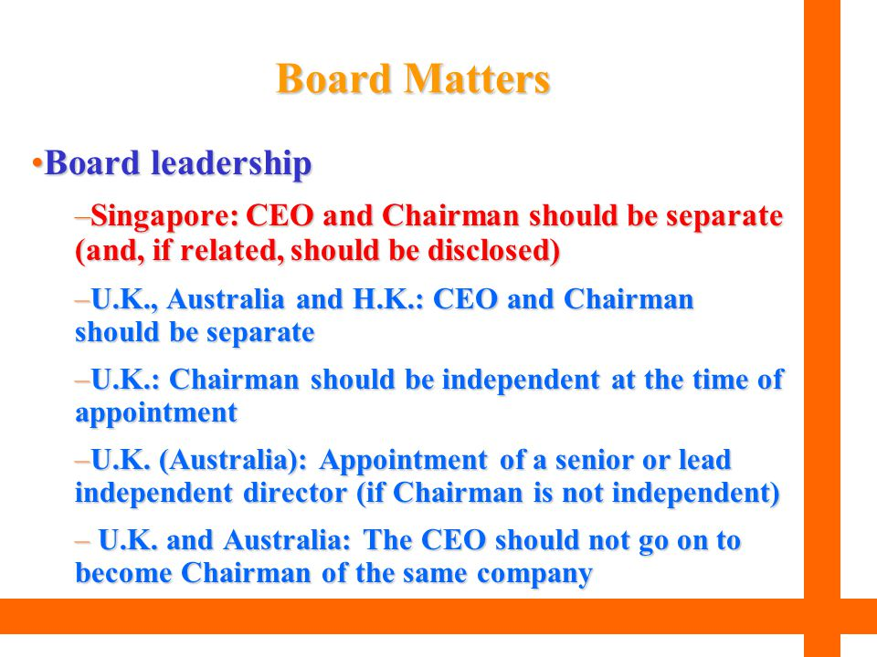 Board Matters Board leadership