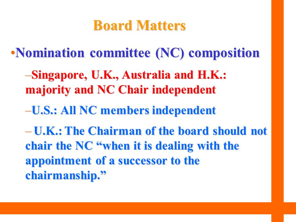 Board Matters Nomination committee (NC) composition