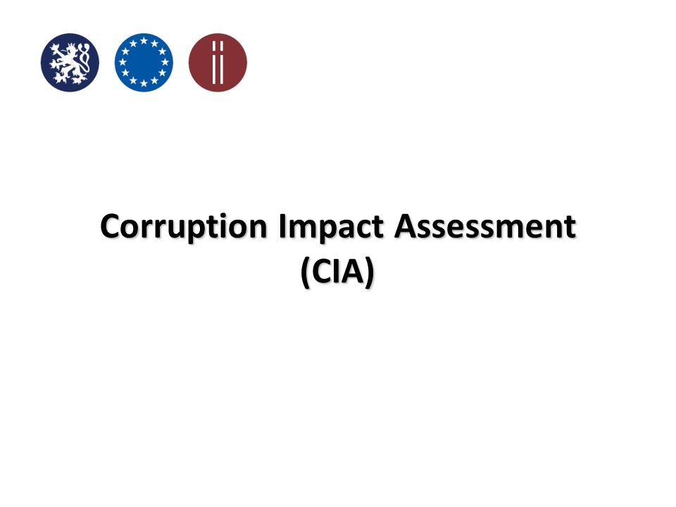 Corruption Impact Assessment (CIA)