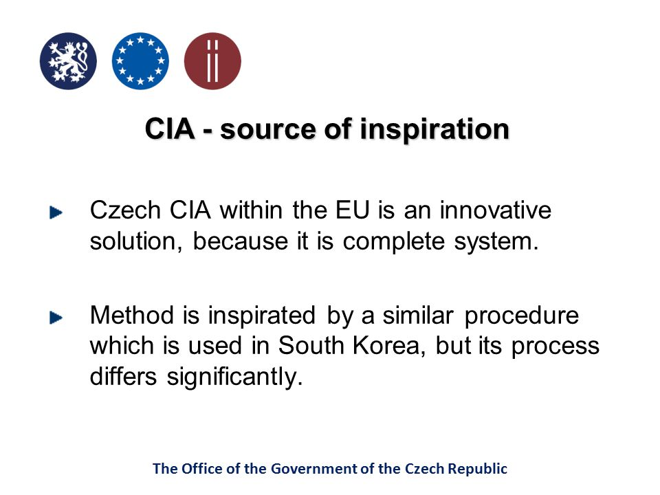 CIA - source of inspiration