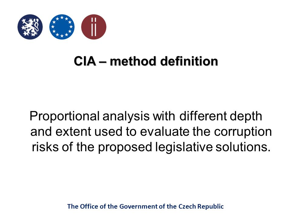 CIA – method definition