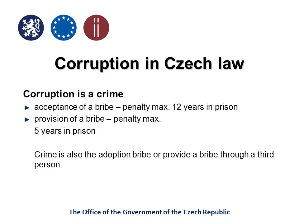 Corruption in Czech law