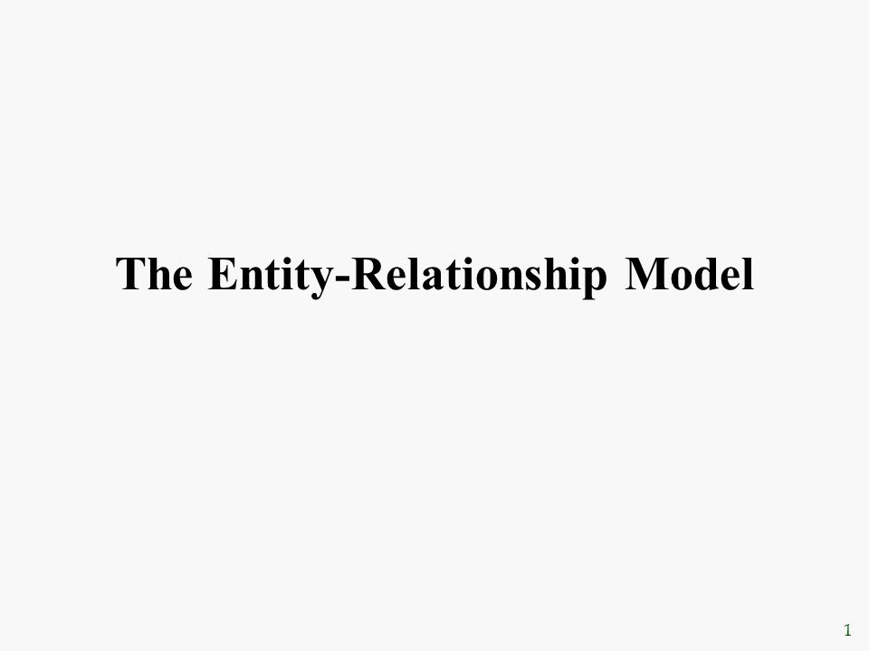 chapter 11 entity relationship modeling ppt background