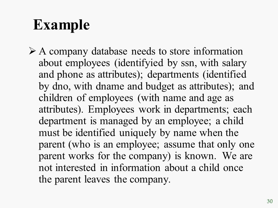 employee and child relationship